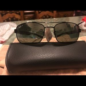 RAy-ban black squared sunglasses NWT